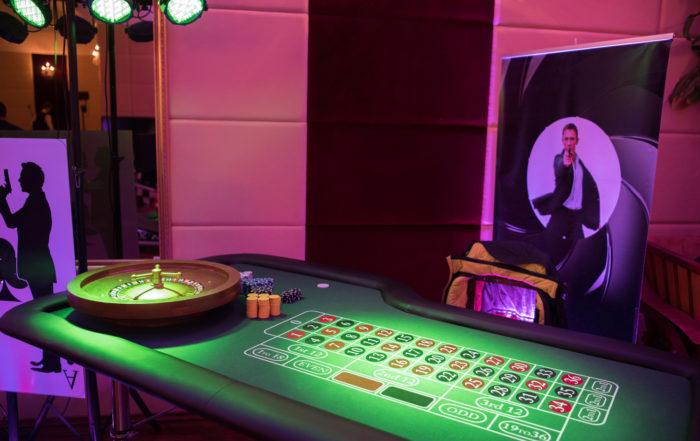 stół do ruletki, wynajem, mobilne kasyno