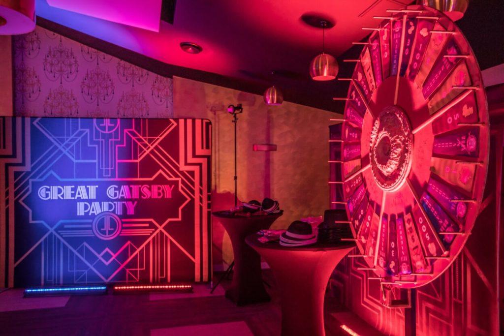 great gatsby, atelier, fotobudka, koło fortuny